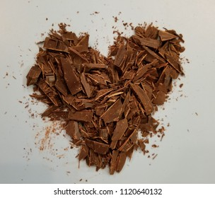 Bittersweet Heart. Chopped bittersweet chocolate.