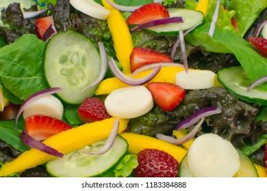 Bittersweet salad close