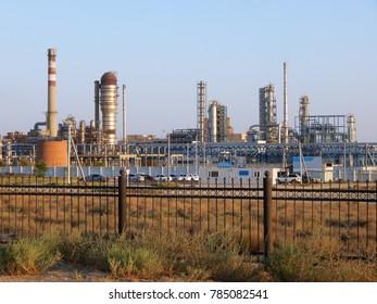 Bitumen plant in Kazakhstan. Aktau Mangistau region.