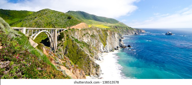 Bixby Bridge, the most photographed bridge on the Pacific Coast.