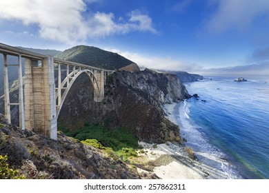 Bixby Bridge on the Big Sur coast of California, is one of the most photographed bridges in California