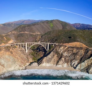 Bixby Bridge and Pacific Coast Highway at Big Sur in California, USA