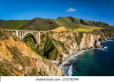 Bixby Creek Bridge, in Big Sur, California.