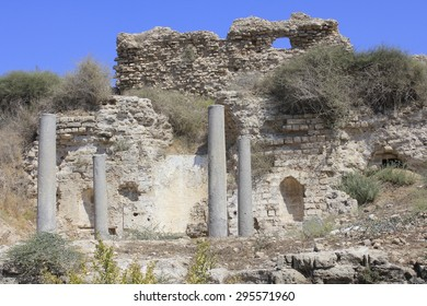 Bizantine Church of Ancient and Biblical City of Ashkelon in Israel, Holy Land