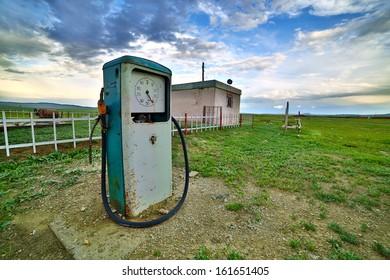 bizarre gas station pump, mongolia