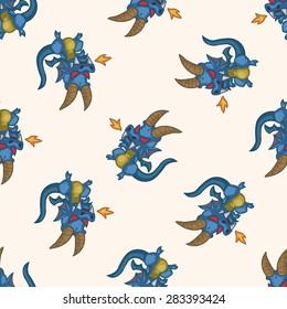 bizarre monster , cartoon seamless pattern background