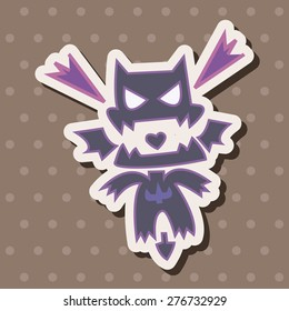 bizarre monster , cartoon sticker icon