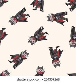 bizarre monster vampire , cartoon seamless pattern background