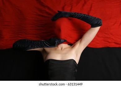 Bizarre shoot of sexy lady