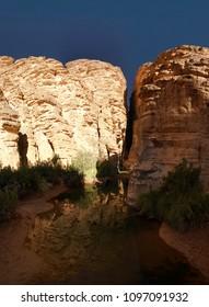 Bizzare rock formation at Essendilene in Tassili nAjjer national park, Algeria