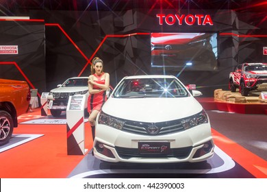 BKK. THAILAND-JUNE 23 : Status of decorate, design of racing car in Bangkok International Auto Salon 2016, 22-26 June 2016 at Bangkok, Thailand. Event of decoration & modify car of Thailand and Japan.