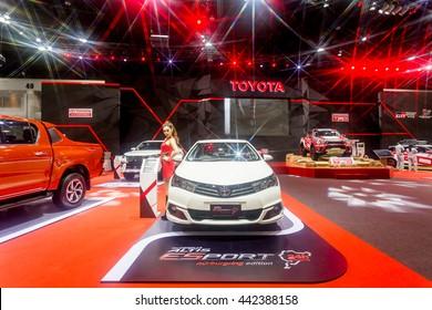 BKK. THAILAND-JUNE 23 : TOYOTA Vios  design of racing car in Bangkok International Auto Salon 2016, 22-26 June 2016 at Bangkok, Thailand. Event of decoration & modify car of Thailand and Japan.