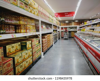 BKK,Thailand - January 02, 2018 : Shopping ,dried and frozen food at super market.