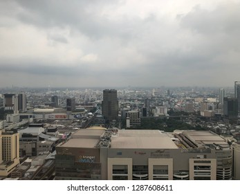 BKK,Thailand:January 8,2019:Air pollution from PM2.5 particles around atmosphere in BKK.