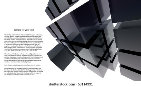 Black 3D cube abstraction