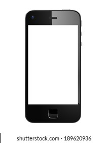 Black 3D Mobile Phone.