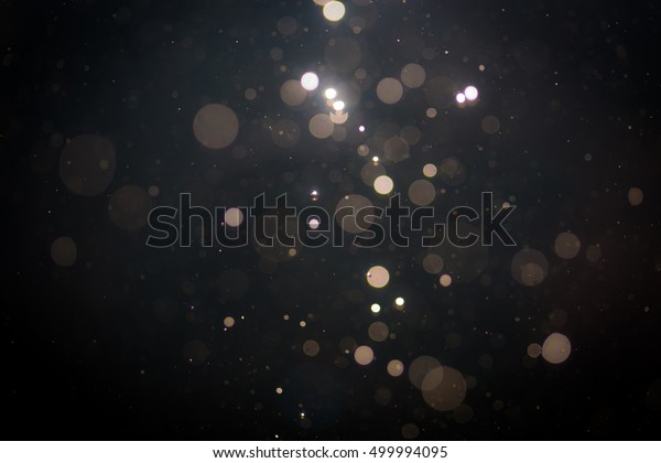 Black abstract bokeh background