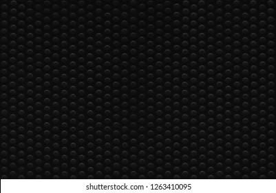 Black abstract dot texture pattern background. Large detailed horizontal textured macro closeup. Natural blank empty copy space, multiple dots