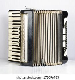 Black accordion opened