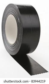 black adhesive tape  on light background