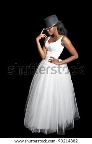 Black African American Woman Bride Wedding Stock Photo (Edit Now ... bce22920a43