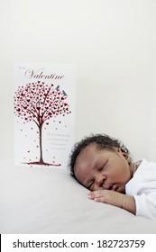Black african newborn baby