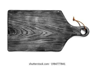 table de cuisine en bois noir isolée