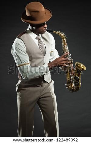 Saxophon Spieler