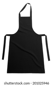 Black apron isolated on white background