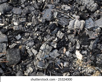 Black ashes or charcoal background