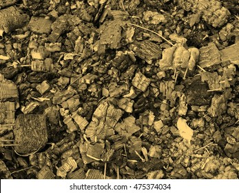 Black ashes or charcoal background vintage sepia
