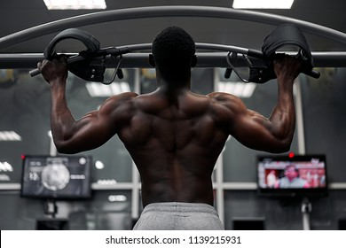 black athlete in the gym
