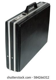 A black attache case on the white background