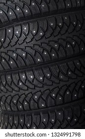 The black automobile tire as a background