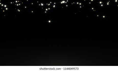 The black background is abstract with the glitter of the stars.