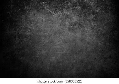 黑色背景。 黑板 垃圾质地。 黑墙黑板
