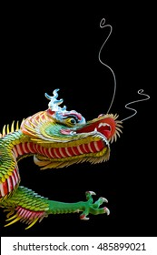 Black background of the Chinese dragon