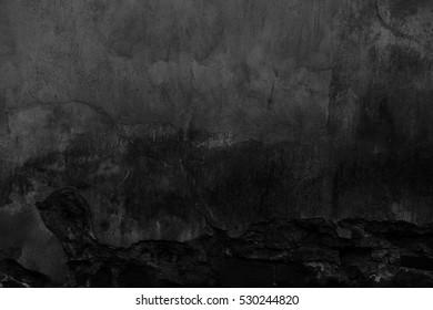 black background concrete wall texture