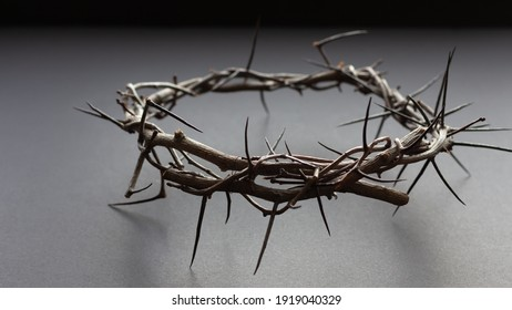 black background with full crown of thorns
