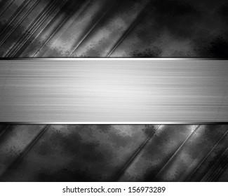 Black background with Iron sribbon. Design template