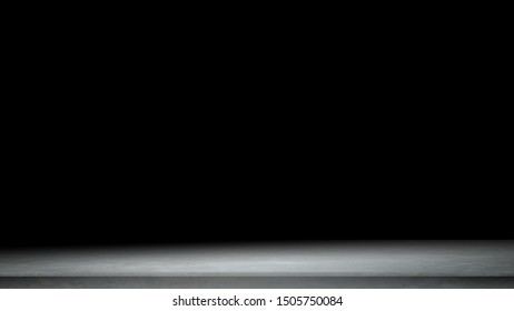 black background for product show with Elegant light , dark and gray abstract concrete wall