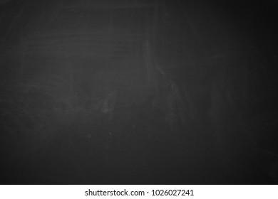Black background showing matte rough wood blackboard texture with erased chalk.