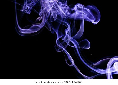 Black background smoke