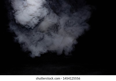 Black background smoke stock images