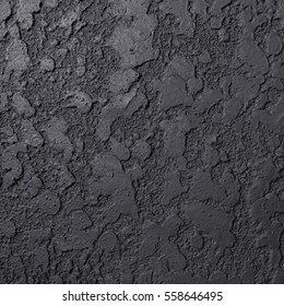 Black Background Texture, Abstract Design Pattern Wall Cement Dark Grunge Closeup