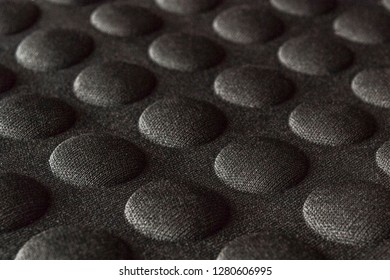 Black background texture. Protection soft tablet case surface. Abstract textile close up