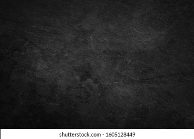 black background, vintage marbled textured border, black cement texture background. Black -Grey blank page