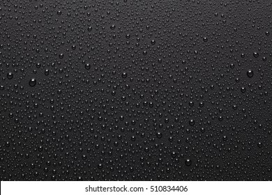 Black background with water drops