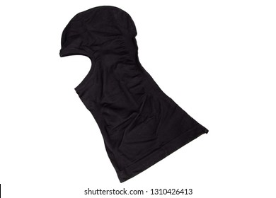black balaclava for rider motorcycle in white background