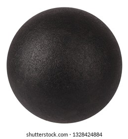 Black ball dark particle or globe sphere isolated on white background